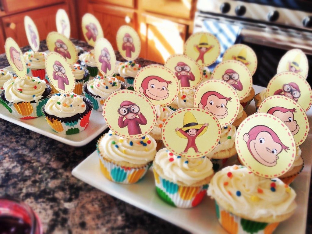 Curious George Birthday Party cupcakes 2