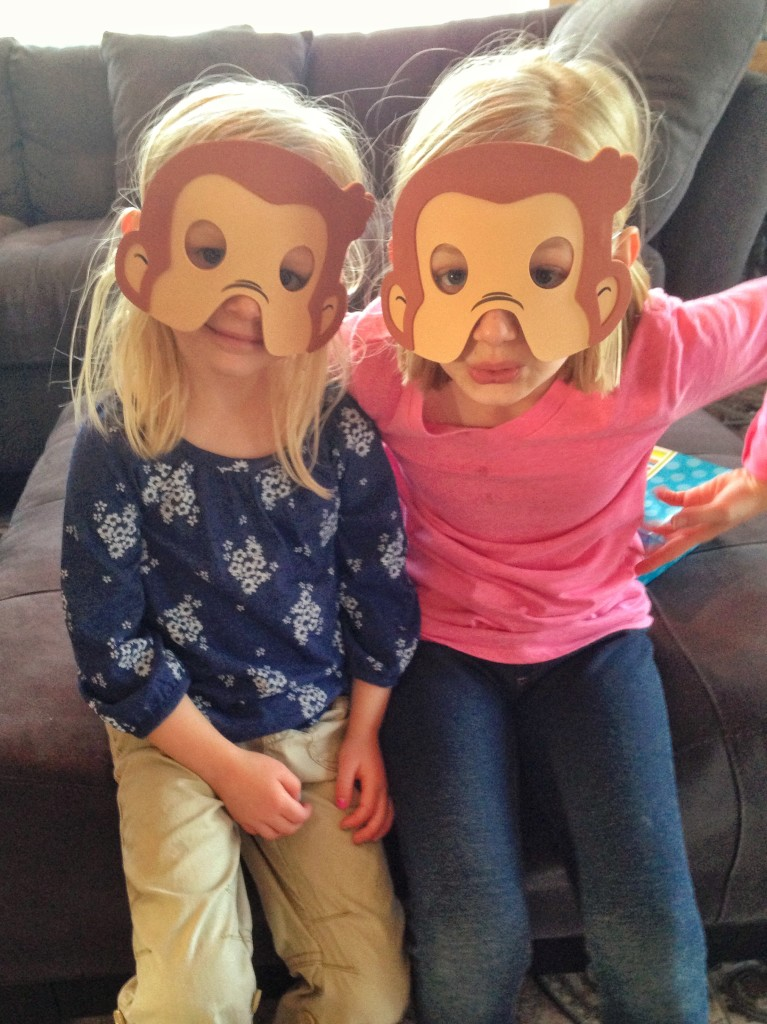 Curious George Birthday Party masks