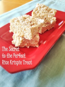 Secret to the Perfect Rice Krispie Treat