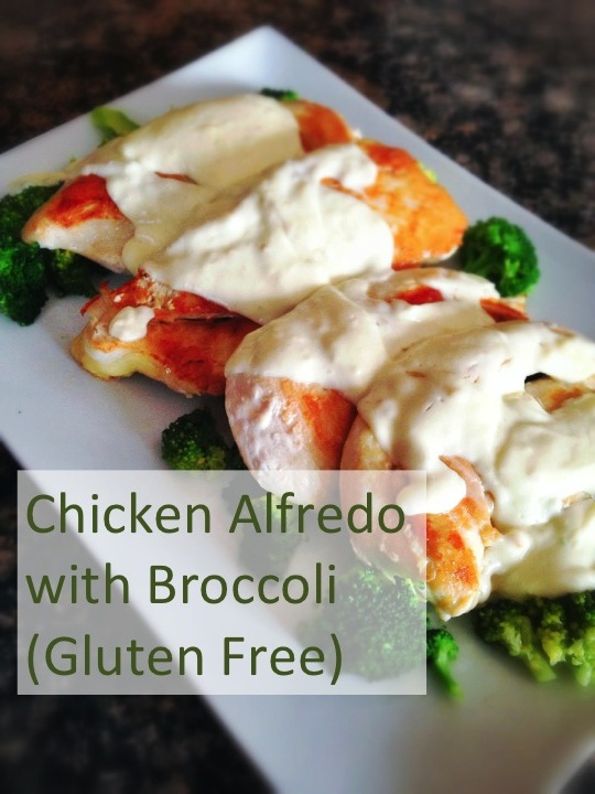 Chicken Alfredo with Broccoli (gluten free) from An Everyday Blessing
