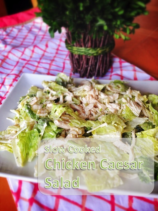 Slow Cooked Chicken Caesar Salad from An Everyday Blessing - Just 5 ingredients!