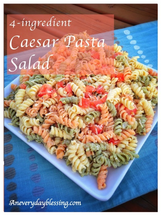 4-ingredient Caesar Pasta Salad from An Everyday Blessing