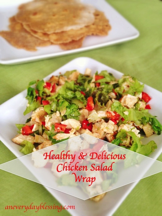 Healthy & Delicious Chicken Salad Wrap from An Everyday Blessing