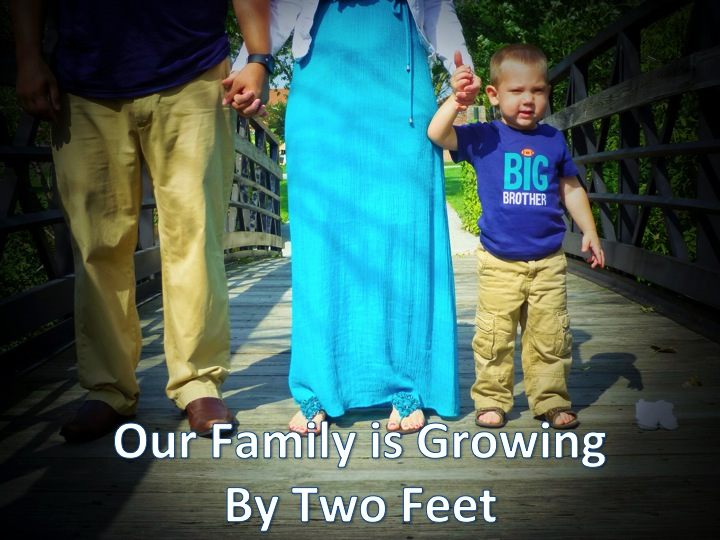 Pregnancy Reveal: Our Family is Growing by Two Feet