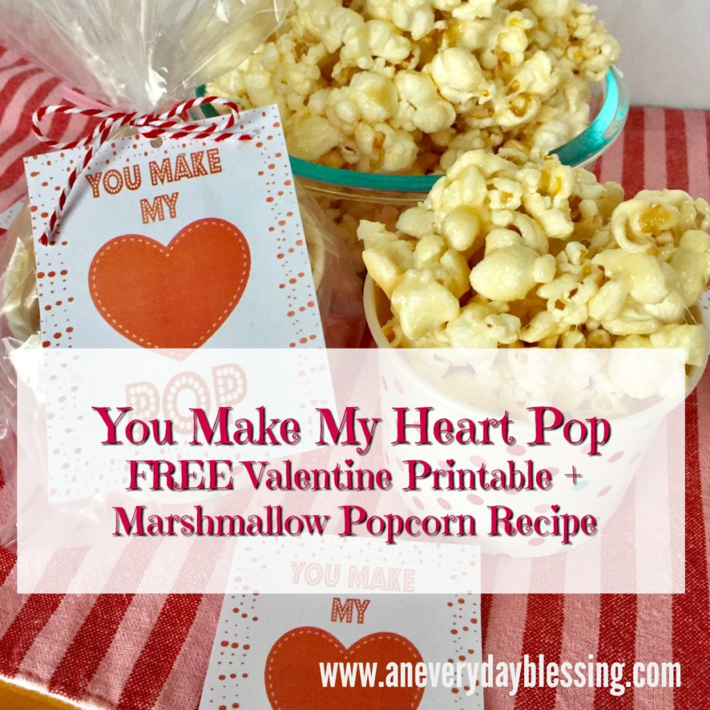 picture about Popcorn Valentine Printable identify Marshmallow Popcorn